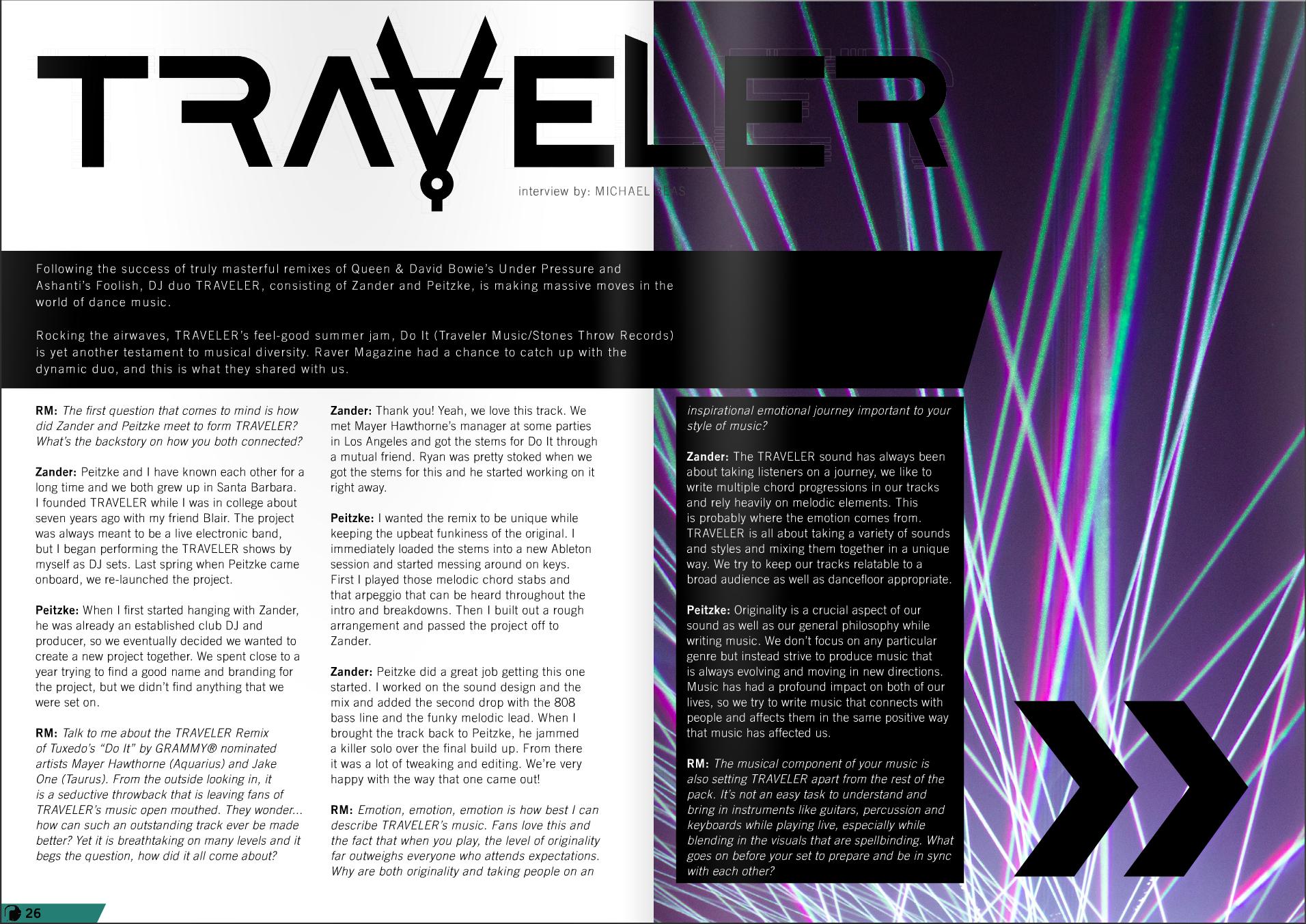 Traveler Raver Magazine